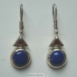 Boucles D Lapiz lazuli/Agate cornaline