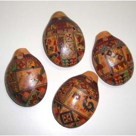 Ocarina du Pérou en céramique décorée
