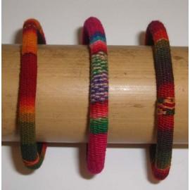 Bracelets du Pérou en tissage manta