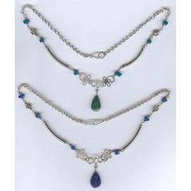 Collier du Pérou en métal et pierres