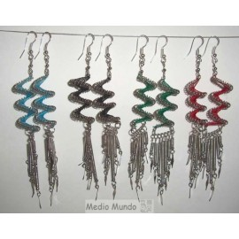 Boucles spirales de métal et fil