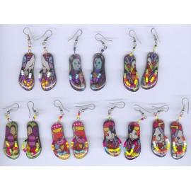 Boucles d'oreilles en forme de sandales