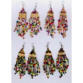 Boucles du Pérou en graines ou perles
