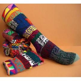 Chaussettes typiques traditionnelles du Pérou