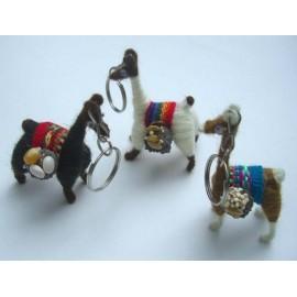 Porte clés en forme de lama du Pérou