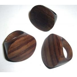 Bague en bois naturel pas cher