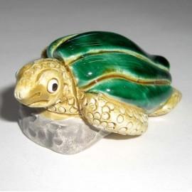 Tortue mer en céramique peint main au Pérou