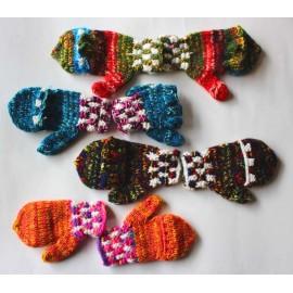 Mitaines moufles enfant du Pérou en laine acrylique
