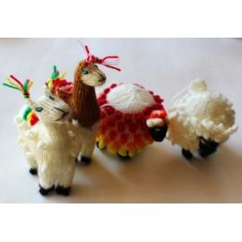 Animaux lama mouton en laine