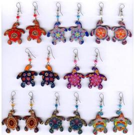 Boucles péruviennes en acrylique, tortue