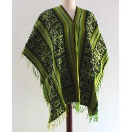 Poncho péruvien de Cusco en laine acrylique