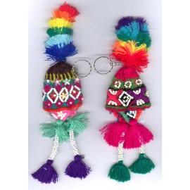 Porte clés bonnets en laine