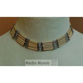 C36 RC3 Collier bambou/ pierres