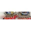 Boucles métal verre
