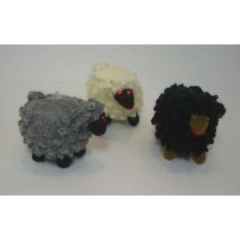 Miniature mouton en laine et coton