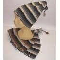 Bonnet au crochet en laine naturelle