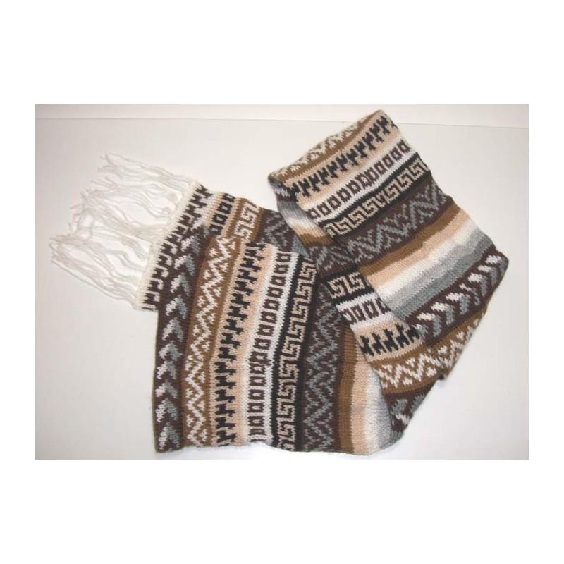 Bonnet et écharpe à la fois en laine du Pérou 3279ab2ec29