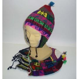 Bonnet péruvien à oreille modèle adulte