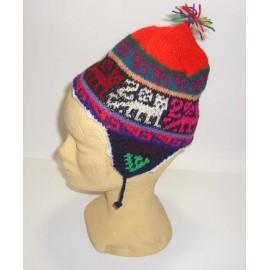 Bonnet péruvien traditionnel pour enfant