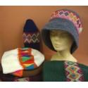 Chapeaux tissage péruvien et crochet laine