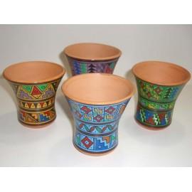 Vase en céramique décoré