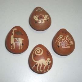 Ocarinas péruviennes minis en céramique