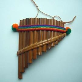 Flûte de Pan du Pérou courbée (Petite)
