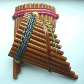 Flûte de Pan du Pérou courbée (Grande)