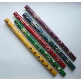 Flûte du Pérou en bambou coloré