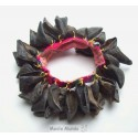 Percussion bracelet en tissage et sabots