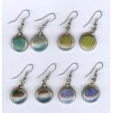 Boucles d'oreilles péruviennes en métal et pierres