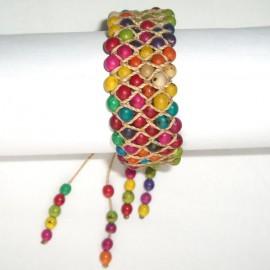 BTGR 6 Bracelet graines achira teintées