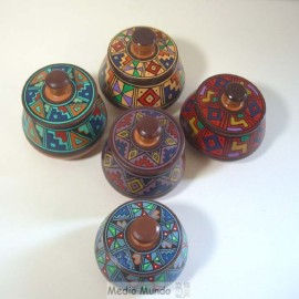 Boites en céramique du Pérou