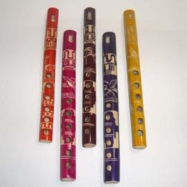 Flûte péruvienne en bambou coloré