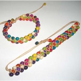 Bracelet du Pérou en graines achira teintées