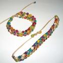 Bracelets péruviens en graines achira teintées