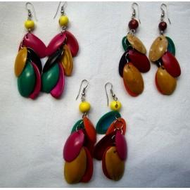 Boucles péruviennes en ovales de coco