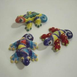 Animaux gecko miniatures en céramique