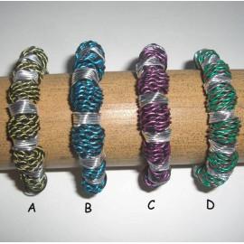 BRALU Bracelets fils d'aluminium colorés