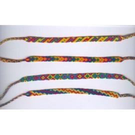 Bracelet péruviens en macramé fin import direct