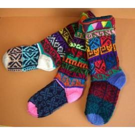 Chaussettes enfants colorées du Pérou