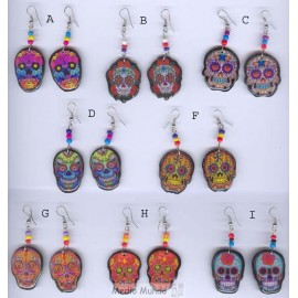 Boucles d'oreilles en forme de têtes de mort