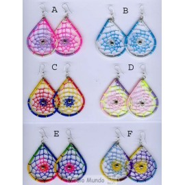 BO44 DC Boucles oreilles forme dream catcher