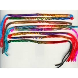 Bracelet péruvien en fil nylon coloré