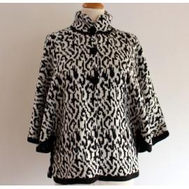 Poncho / cape du Pérou en laine mixte