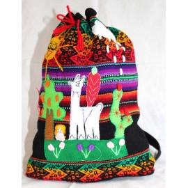Sac à dos enfant du Pérou brodé en laine acrylique