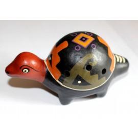 Ocarina en céramique en forme de tortue