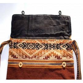Sac cabas coloré du Pérou en laine acrylique