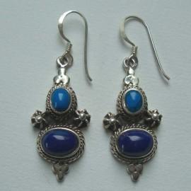 Boucles A Lapiz lazuli Turquoise