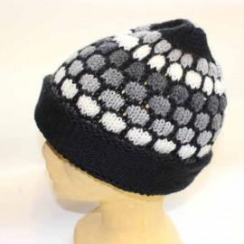 Bonnet péruvien en laine naturelle